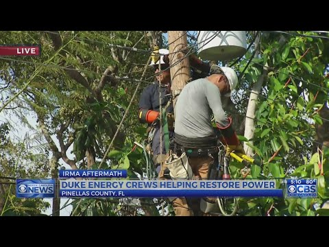 Raleigh-based lineman misses son's wedding to restore power in Florida.
