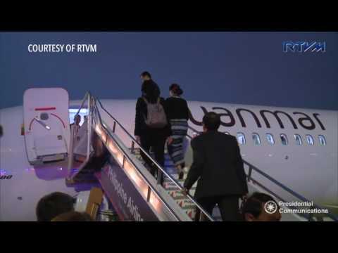 ASEAN 2017: Departure of Myanmar's Aung San Suu Kyi