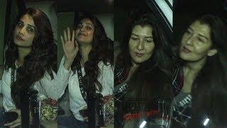 Sangeeta Bijlani and Daisy Shah Spotted At PVR Juhu