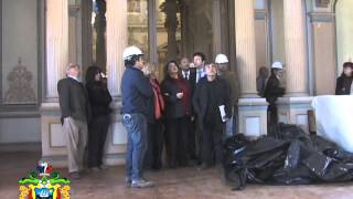 TRABAJOS DE RESTAURACIÓN DEL PALACIO RIOJA FUERON INSPECCIONADOS POR ALCALDESA VIRGINIA REGINATO..