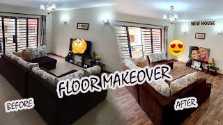 EXTREME FLOOR MAKE OVER ON A RENTAL | FROM COLD FLOORS TO WARM FLOORING