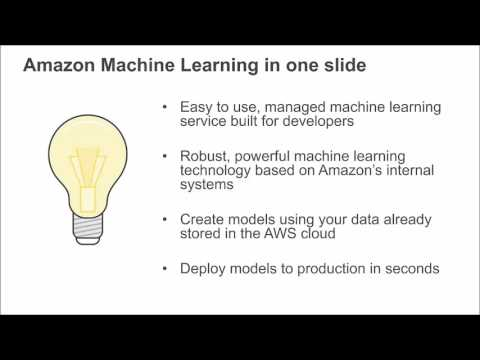 AWS January 2016 Webinar Series - Building Smart Applications with Amazon Machine Learning