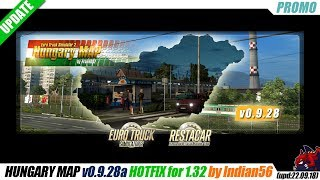 "[""Euro Truck Simulator 2"", ""map mod"", ""HUNGARY MAP v0.9.28a"", ""Hotfix"", ""by Indian56""]"