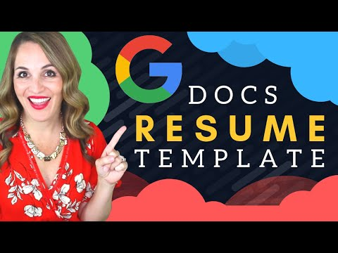 How To Write A Resume In GOOGLE DOCS - Google Docs Resume Template
