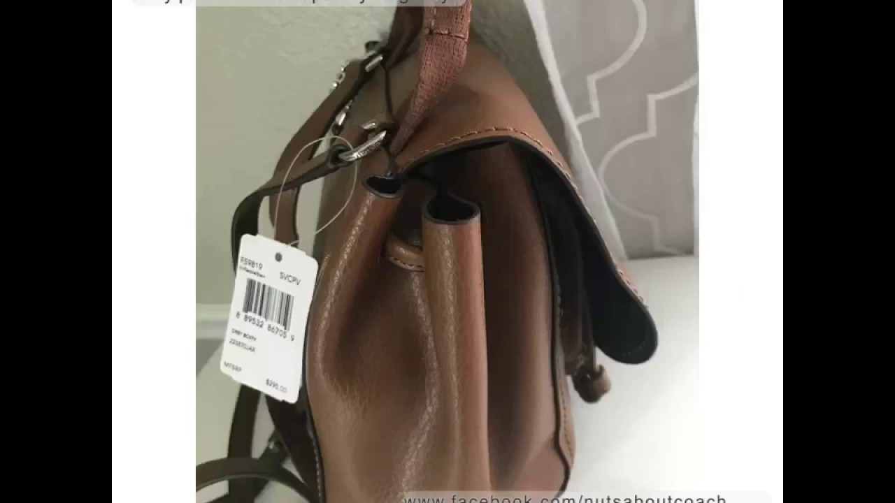 5389e780d23 COACH SADDLE DERBY BACKPACK/ CROSSBODY IN PEBBLE LEATHER F59819 ...