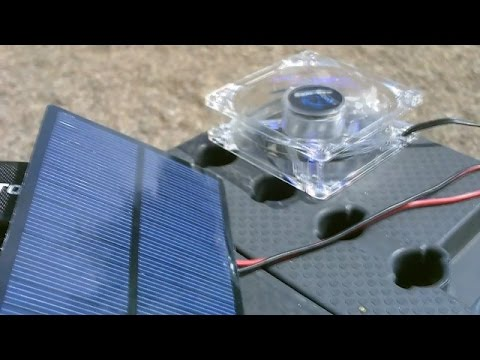 Solar Powering 12VDC Fans! (solar panel sizing and hookup) - Easy