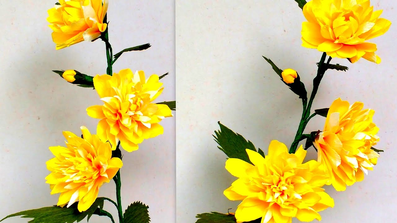 How To Make Paper Flowers Easter Rose Kerria Pleniflora Flower