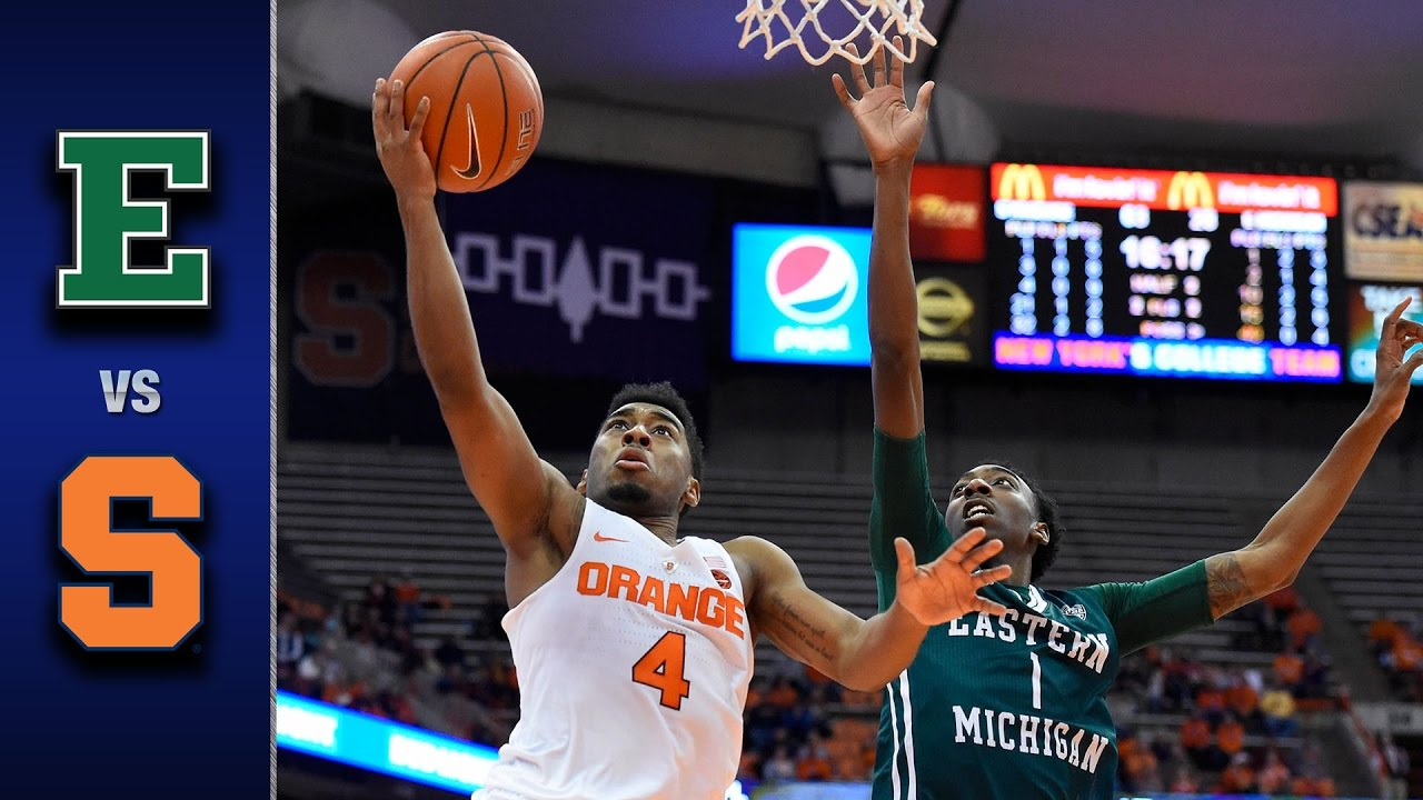 Syracuse vs. Eastern Michigan Men's Basketball Highlights ...