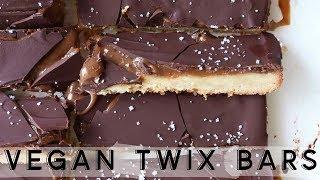 Homemade Twix Bars || vegan + gluten free