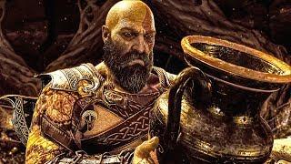 God Of War 4 Kratos Finds Spartan Relics Scene Ps4 Pro 60fps