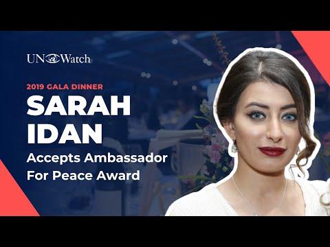 Sarah Idan Receives 2019 Ambassador for Peace Award