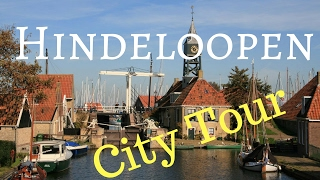 Hindeloopen (Hylpen) Friesland (Fryslân) The Netherlands (City Tour) Walking and Cycling .. GoPro
