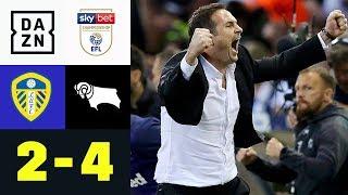 Derby siegt im wilden Aufstiegskampf: Leeds United - Derby County 2:4 | Championship-Playoffs | DAZN