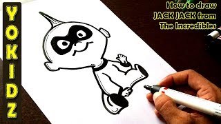 How to draw JACK JACK from the incredibles