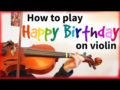 How to play Happy Birthday | Easy Beginner Song | Violin Tutorial