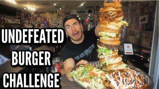 MASSIVE BURGER CHALLEGE With Jalapenos & Pulled Pork! Giant Burger | Man Vs Food