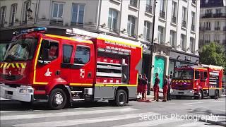 Incendie Paris - Important Feu d'appartement à Paris - Pompiers de paris en urgence - BSPP