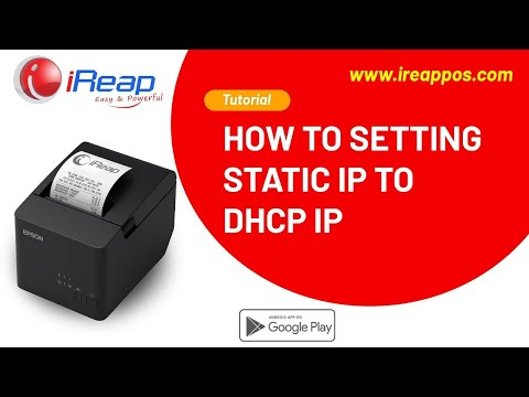 How to Setting Static IP to DHCP IP Using PC / Laptop for WIFI / LAN  Printer Epson TM-T82X