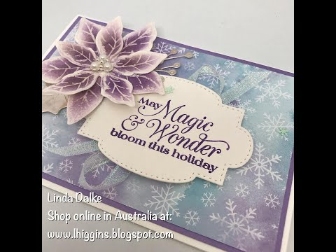 How to create a Sparkly Poinsettia Card