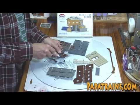 How To Build the Blue Coal Depot for Your N Scale Model Train Layout – A How To Video