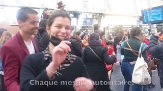 """Le Retour ! """"DANSER ENCORE"""" - Flashmob - Gare de l'Est - 8 Avril 2021"""