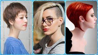 Ładne uczesanie krótkich włosów damskich