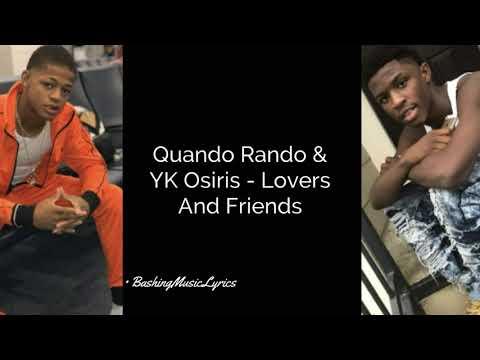 "Quando Rando Feat. YK Osiris ""Lovers And Friends"" (LYRICS)"
