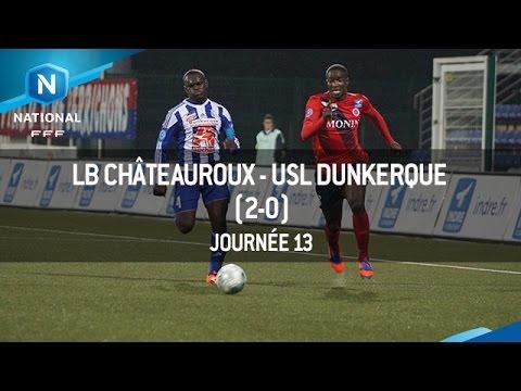 J13 : LB Châteauroux – USL Dunkerque (2-0), le résumé