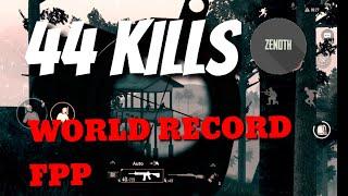 NEW WORLD RECORD FPP!? | 44 kills solo vs squad in sanhok l PUBG mobile