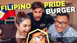 HUWAG PAPALAMPASIN: The FILIPINO PRIDE BURGER - created by a FOREIGNER, approved by PINOYS