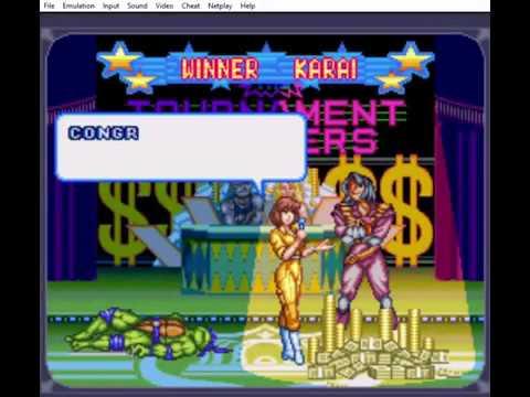 TMNT Tournament Fighters SNES: Boss Run KARAI