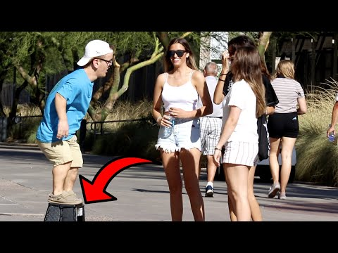 Dwarf Picking Up Girls With A Stool!
