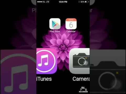 Tutorial mengubah tampilan android menjadi iphone