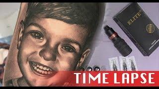 Child Portrait - Tattoo time lapse
