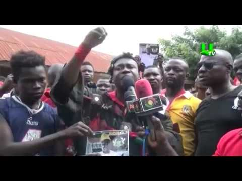 Nkoranza Youth hit the streets over chieftaincy issues