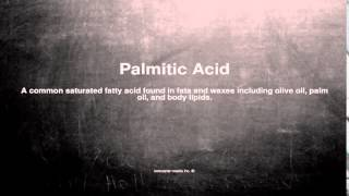 Medical vocabulary: What does Palmitic Acid mean