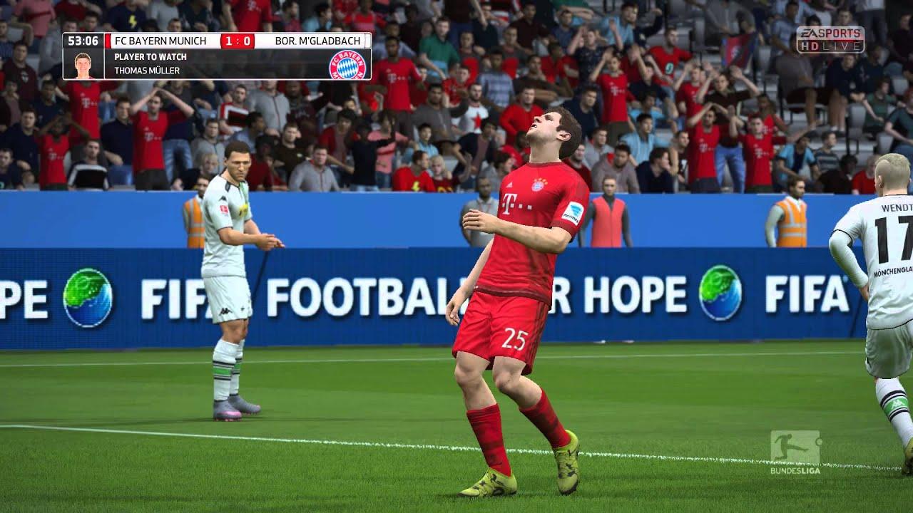 Fifa 16 Fc Bayern Munich Vs Borussia Monchengladbach
