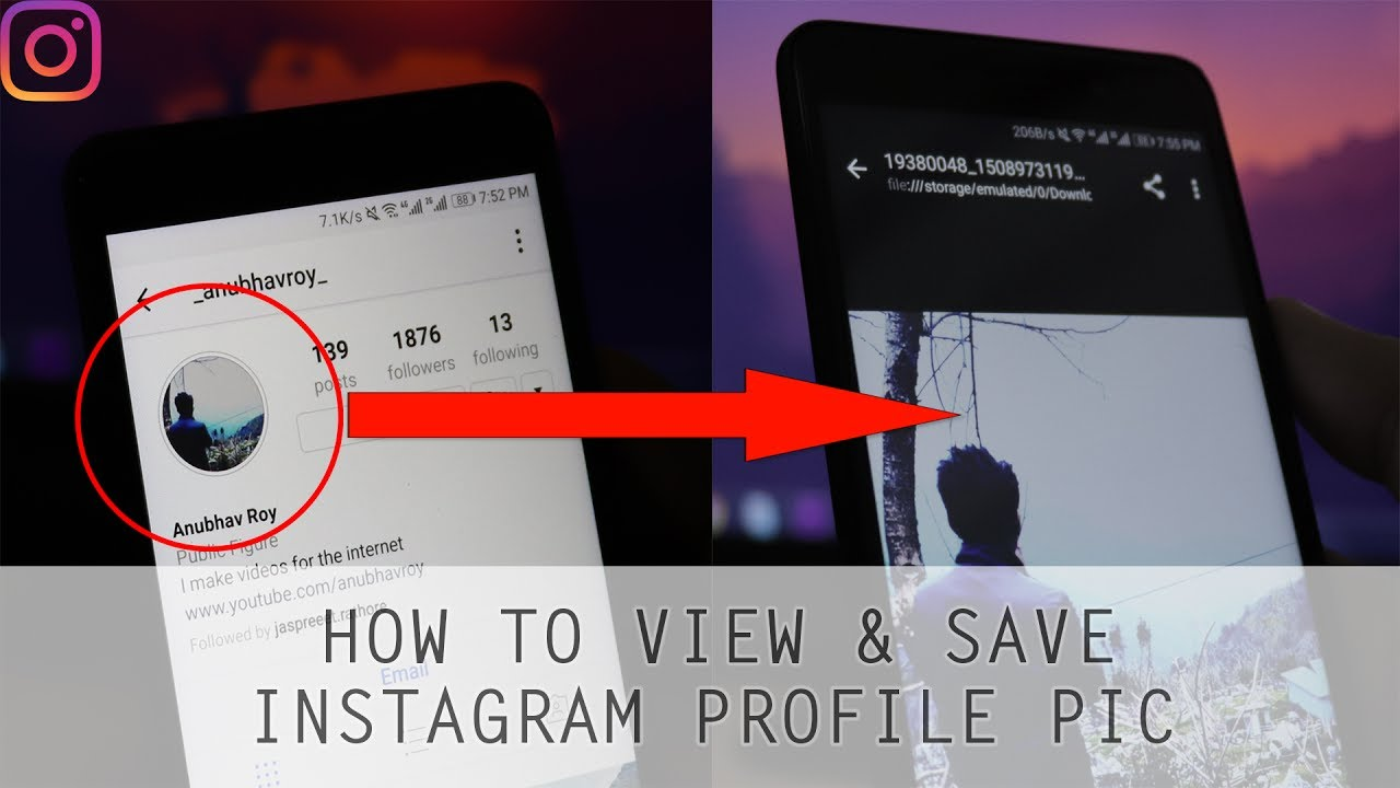 How to View Instagram profile picture in full size and Save to Gallery?