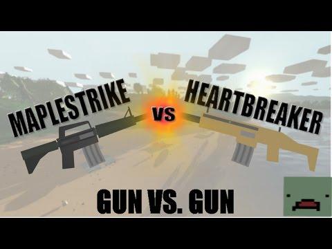 Unturned: Gun VS Gun || Maplestrike VS Heartbreaker (which is best?!?) thumbnail