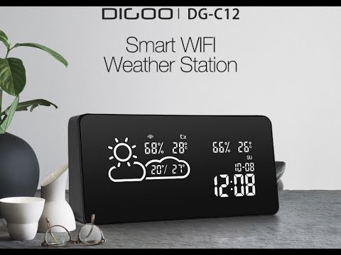 Station météo connectée Wifi Digoo DG-C12, jt du geek par GLG