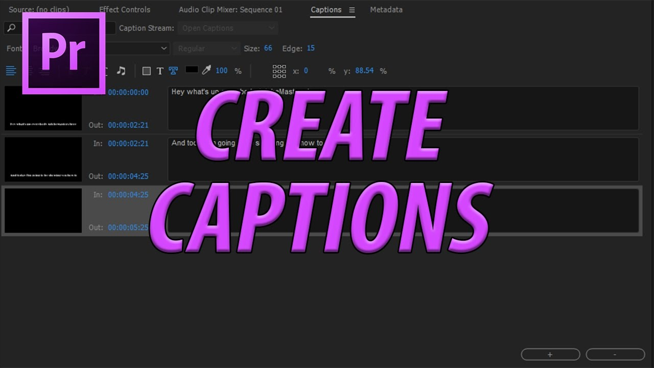How to Create Captions and Subtitles in Adobe Premiere Pro