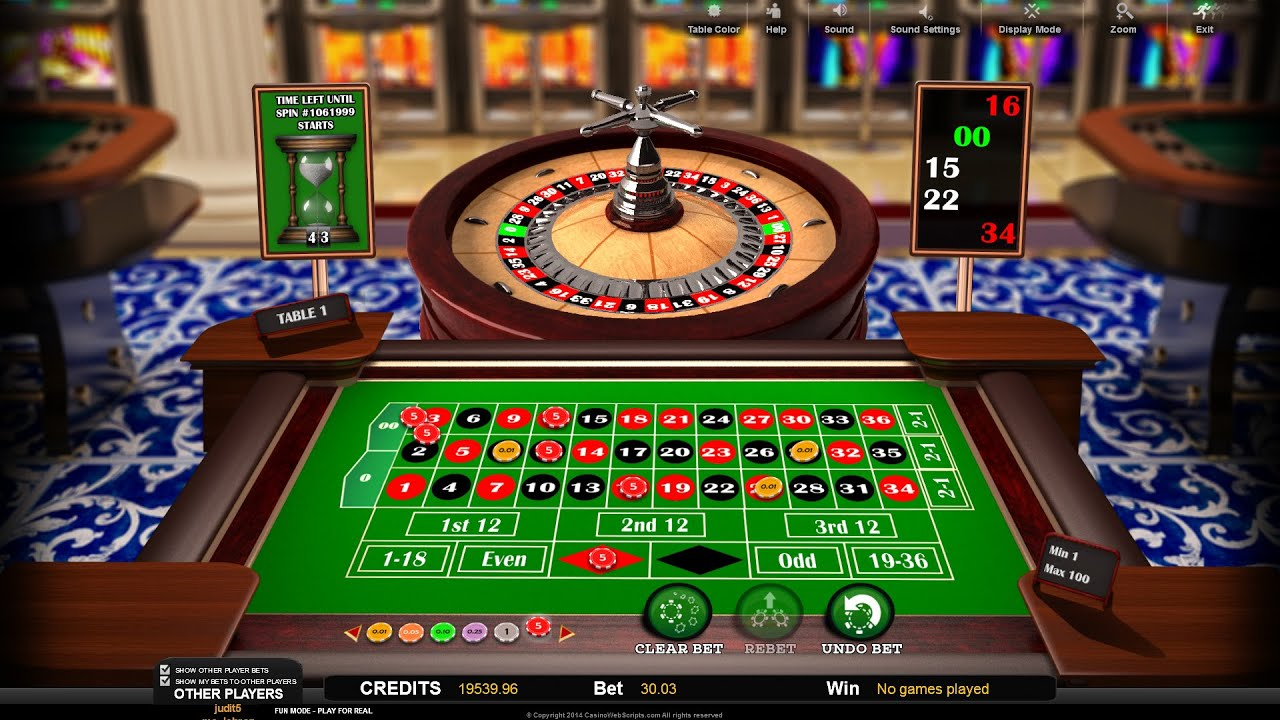 Multiplayer American 3D Roulette - Online Casino Game ...
