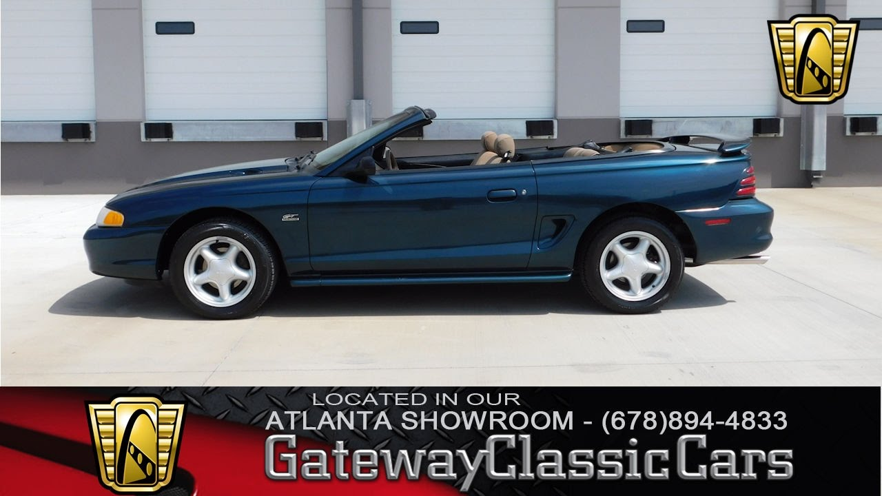 1995 ford mustang convertible gt   gateway classic cars of