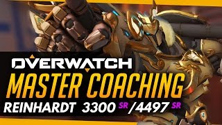 Overwatch | Master Coaching - Reinhardt - Diamond vs GM (ft Numlocked)