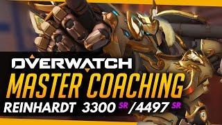 Overwatch | Master Coaching - Reinhardt - Diamond vs GM (ft Numlocked)