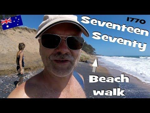 Seventeen Seventy Beach Walk - Agnes Water, Day 4 | vlog161214