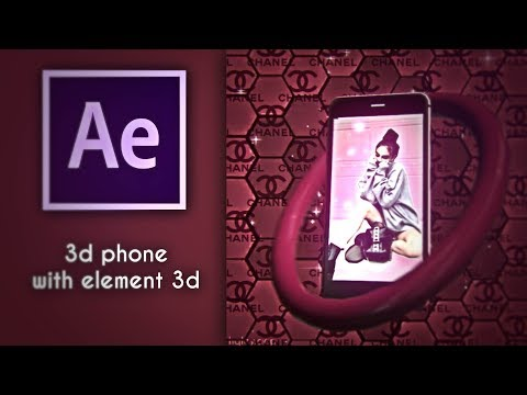 3d phone with element 3d || After Effects Tutorial