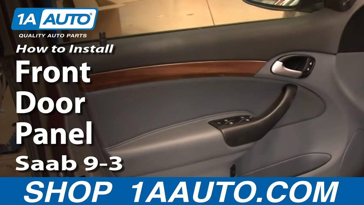 hight resolution of how to remove front door panel 03 11 saab 9 3