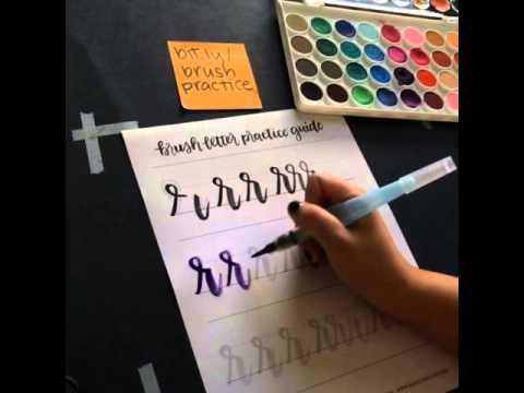 Brush Lettering Lowercase R