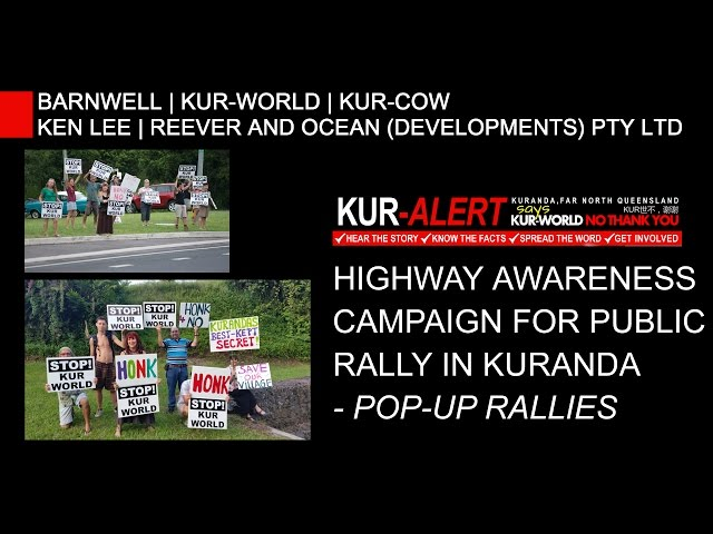 RALLY AGAINST KUR-WORLD: Highway Awareness Campaign Pop-up Rallies